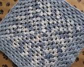 Crocheted Pet Blanket - Multicolor Blue