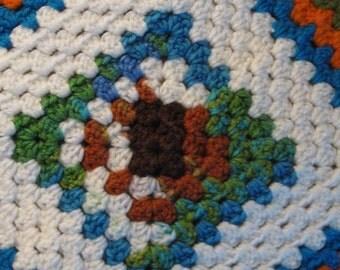 Crocheted Pet Blanket - Multicolor