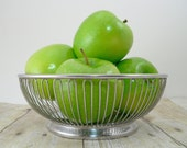 Alessi wire basket International Stainless steel fruit bowl silvertone made in Italy