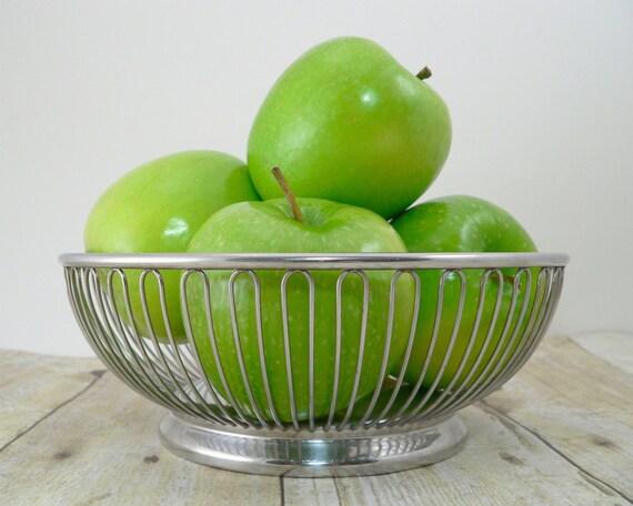 Alessi wire basket international stainless steel fruit bowl - Alessi fruit basket ...