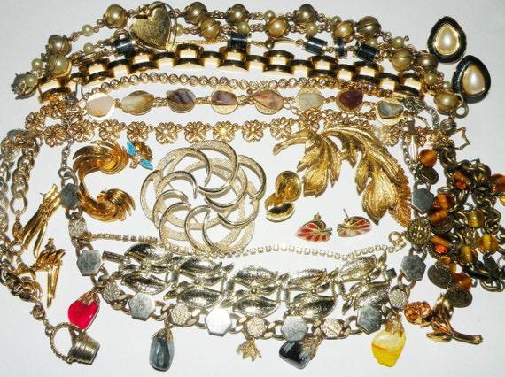 Vintage Destash Jewelry lot Wear Repair Reuse Repurpose and Recycle