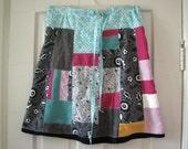 Hippie patchwork skirt, knee length --- Custom made