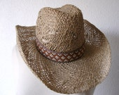 Vintage Woven Cowboy Hat by Rockmount Grand Teton - Stagecoach