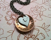 I carry you in my heart  2...Hand Stamped Personalized Necklace