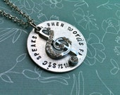 Custom Listing For Margaret...When WORDS Fail MUSIC speaks....Hand Stamped Necklace