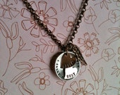 NEW- I Carry You In My Heart...Double Heart Hand Stamped Necklace