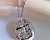NEW--Wonder Bird--wHimSiCaL aRt...Hand Stamped Pewter Collection