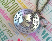 NEW-I'll LOVE you Forever...Wrapped Style Hand Stamped Necklace
