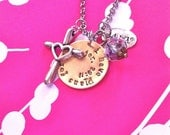 NEW: Peace...Hand Stamped Charm Necklace