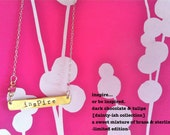 NEW-dainty-ish..Hand Stamped Mixed Metal Bar Necklace
