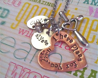 GRADuate 2015..Hand Stamped Necklace