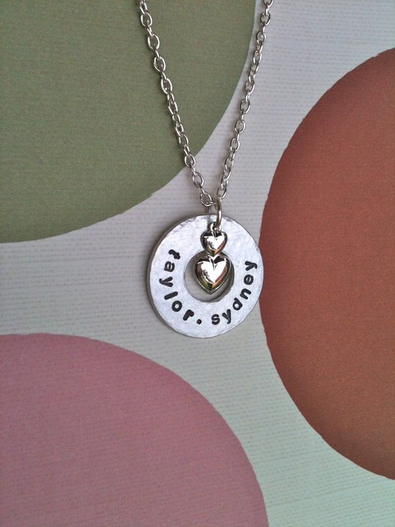 Circle Of Loves...Personalized Hand Stamped Necklace