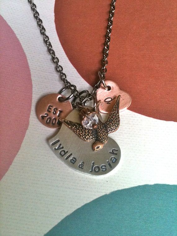 FAMILY Crest...Hand Stamped Necklace