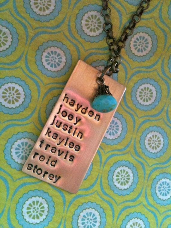 All My Children/Grandchildren...Hand Stamped Necklace