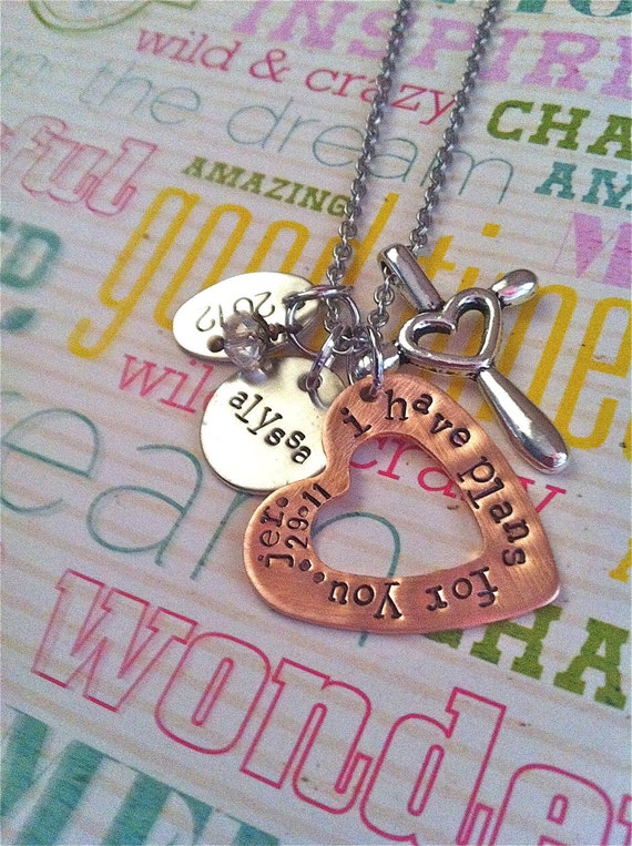 Custom Listing For Kaley...GRADuate 2013..Hand Stamped Necklace