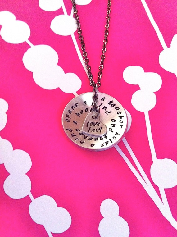 Custom Listing For Keri..NEW-Fancy Custom Wrapped Phrase...Hand Stamped Necklace