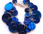 Button Bracelet, Royal Blue
