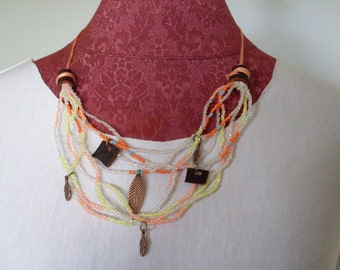 Multi Strand Leather Necklace
