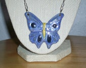 Butterfly in Blue Necklace