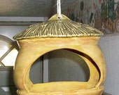 Ceramic Hut Birdfeeder