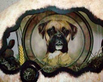 Ceramic dog Shadowbox  light breed pet