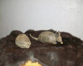 Ceramic Armadillo/pair