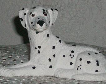 Ceramic Dalmation Miniature Handpainted