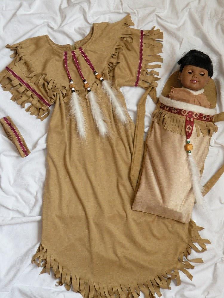 Native American Girl Indian Dress Costume Plus Dolls
