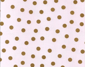 Oilcloth By The Yard Dot Gold Tablecloth 48x48 Square