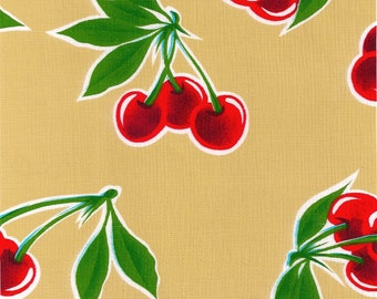 Cherry Tan Oilcloth By TheYard