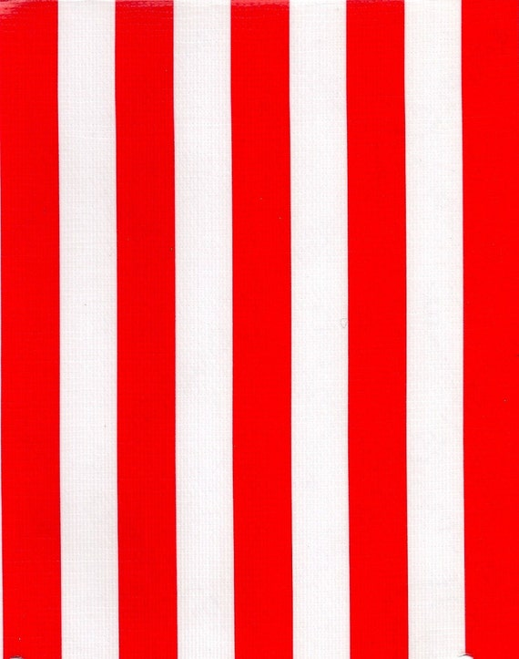Oilcloth By The Yard Red Stripe