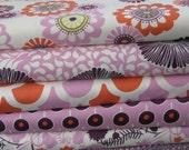 Pink Fabric Bundle - fabric destash - 6 yards total - free shipping