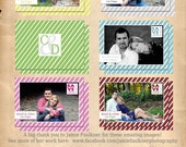 5x7 Save The Date Photography Templates, 6 cards set 302