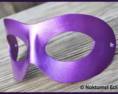 Metallic Purple Leather Mask Harley Quinn Masquerade Ball Superhero Party Comic Con Halloween Costume Unisex AVAILABLE In ANY COLOR