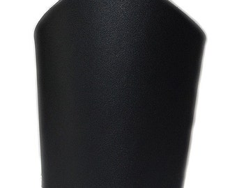 Pair Plain Black Leather Bicep Arm Covers - Black Metal Cosplay Halloween Costume  - UNISEX