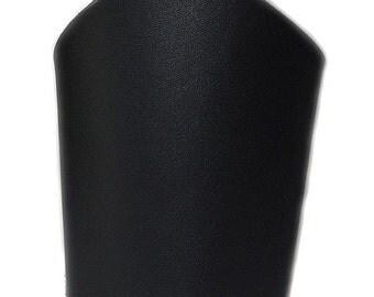 Plain Black Leather Bicep Upper Armband Black Metal Fetish Accessory Viking Armor Superher Cosplay Halloween Comic Con Costume UNISEX