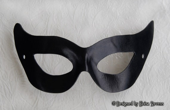 50s catwoman black leather mask gotham girl villian for Marvel black cat mask template