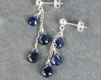 Cascading Sapphire Drops Earrings