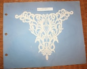 Vintage White and Cream Lace Bridal Appliques from Manufactuer's Sample Book