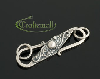 1 Sterling Silver S Clasp 31mm - Large Clasp with Bali Ornament - bclos003