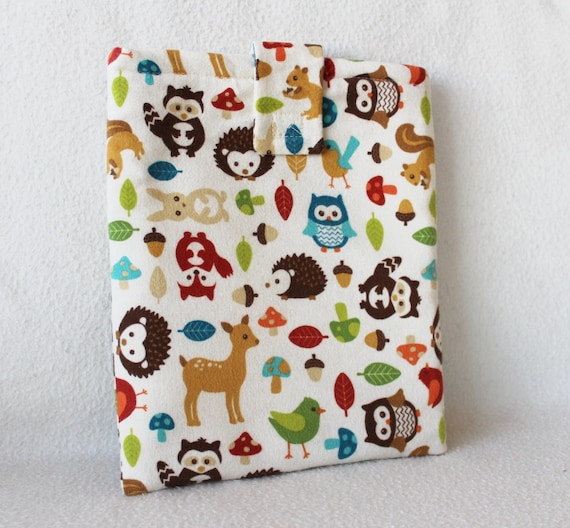 Forest Animals iPad Padded Travel Sleeve
