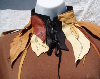 Leather Leaf Collar Elf and Fairy Wear