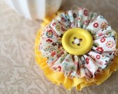 Girl Yellow Spring Flower Clip