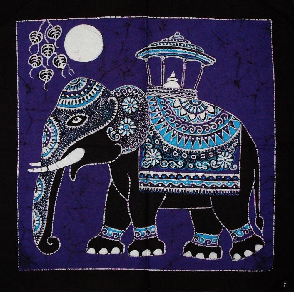 Batik Wall Hanging Elephant Tapestry Batik Art By Eyeconcept