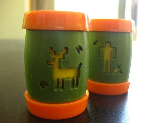 funky salt and pepper shakers for camping by