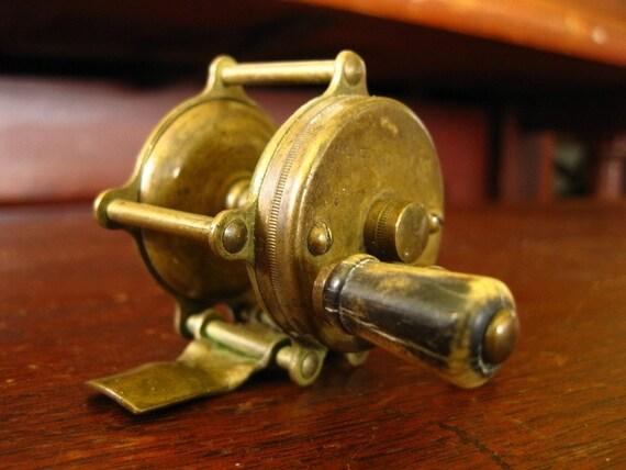 Antique Hendryx Brass Reel