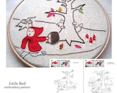 Little Red PDF Embroidery Pattern