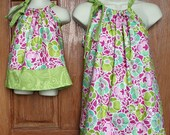 Matching Adult Top (XS, S or M) and Child Dress in Free Spirit Pink Floral