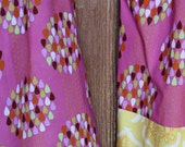 Ready to Ship: Girl's pillowcase dress, size 2/3 in Pink and Yellow Raindrop