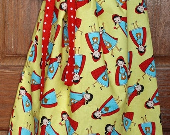 Sale ***Ready to Ship: Girl Dress, Size 5 in Little Red Riding Hood print.